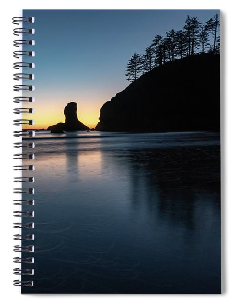 Sea Stack Silhouette Spiral Notebook