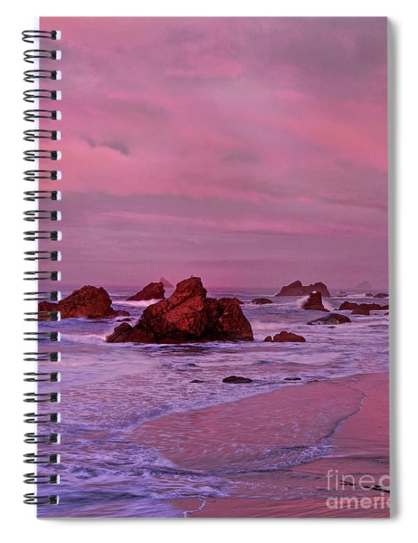 Sea Stacks Harris State Beach Oregon Spiral Notebook