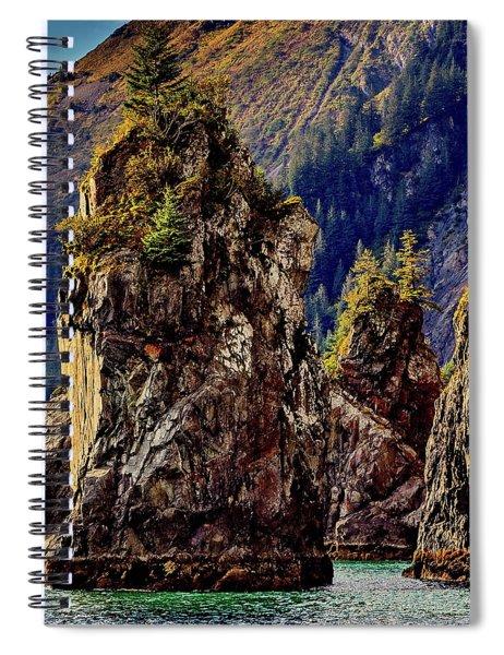 Sea Stacks Kenai Fjords Spiral Notebook