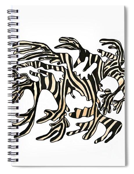 Sea Zebra Dragon In White Spiral Notebook