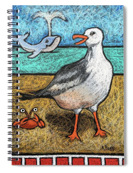 Seagull And Friends Spiral Notebook