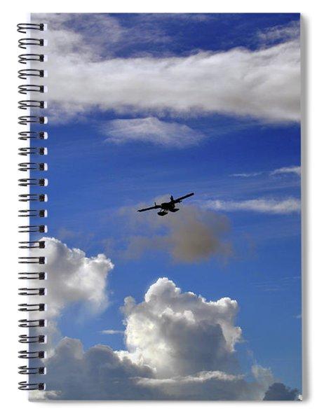 Seaplane Skyline Spiral Notebook