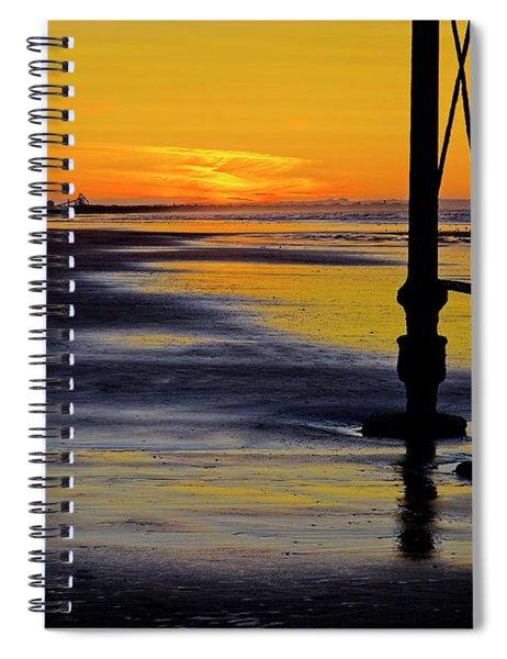 Seaside Sunset At Saltburn Spiral Notebook