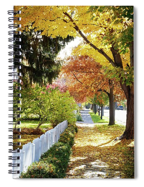 Seasons Sidewalk Stroll Spiral Notebook