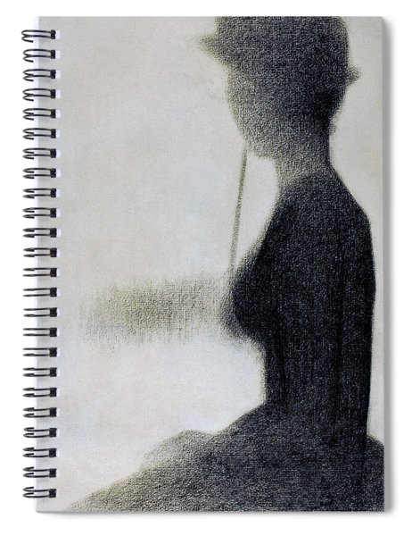 Seated Woman With A Parasol - Digital Remastered Edition Spiral Notebook