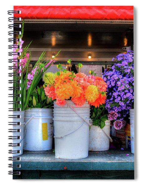Seattle Flower Market Spiral Notebook