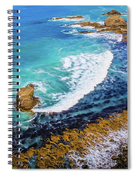 Roaring Bay At Nugget Point Spiral Notebook