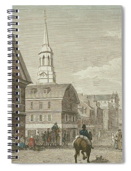 Second Street North From Market St. And Christ Church Spiral Notebook