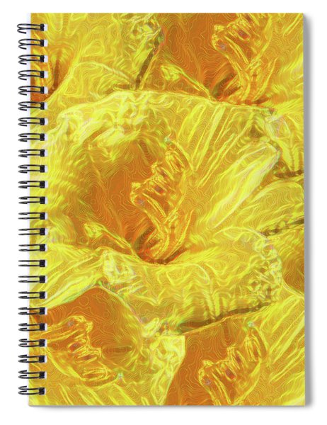 Selective Yellow Lilies Spiral Notebook