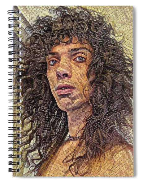 Self Portrait - The Shawn Mosaic - 80s Glam Rock Spiral Notebook