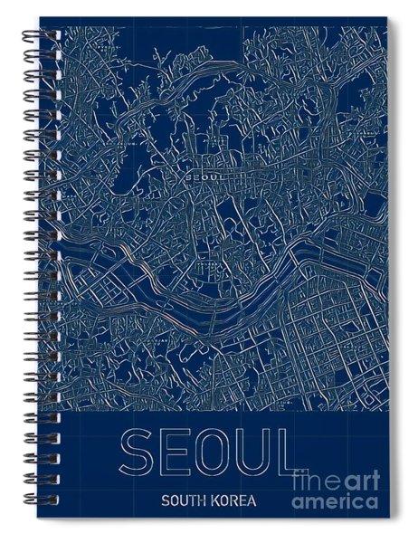 Seoul Blueprint City Map Spiral Notebook