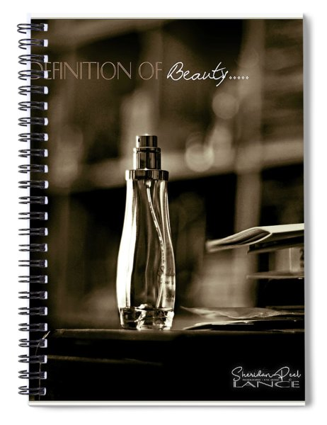 Sepia Definition Of Beauty Spiral Notebook