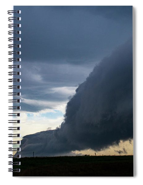 Spiral Notebook featuring the photograph September Thunderstorms 003 by NebraskaSC