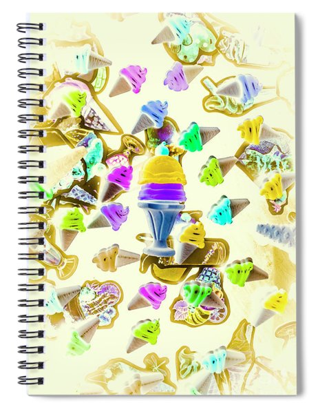 Served Ice-cream Cold Spiral Notebook