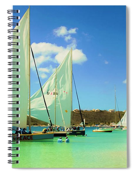 Set Your Sails At Sandy Ground In Anguilla Spiral Notebook