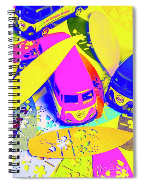 Seventies Surf Scenes Spiral Notebook