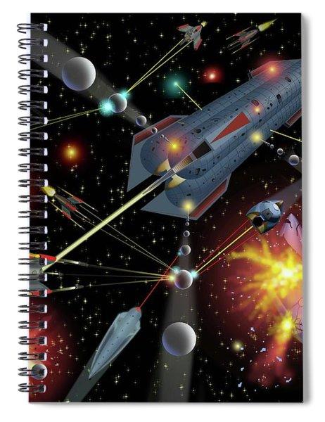 Sferogyls Space Battle Group Spiral Notebook