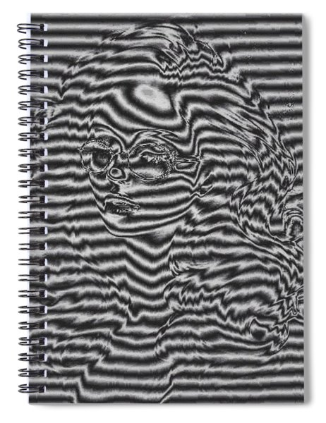 Shadow Portrait Spiral Notebook by Mario Carini