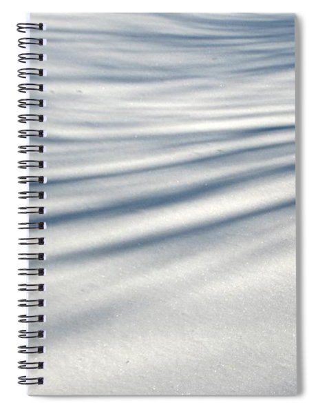 Shadows In The Snow Abstract By Artist4god Spiral Notebook by Rose Santuci-Sofranko
