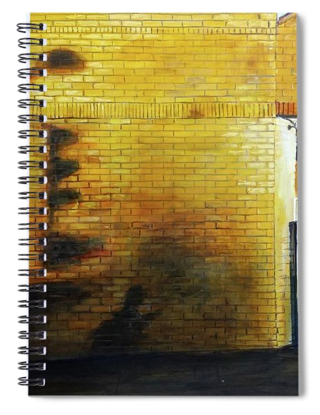 Shadows On The Wall Spiral Notebook