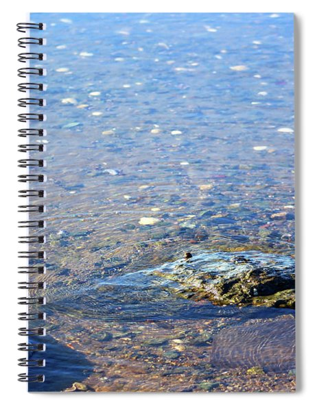 Spiral Notebook featuring the photograph Shallow Water by Patti Whitten