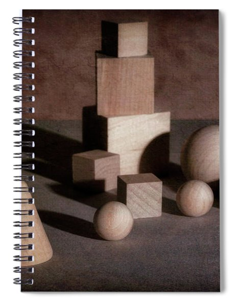 Shape And Shadow Spiral Notebook