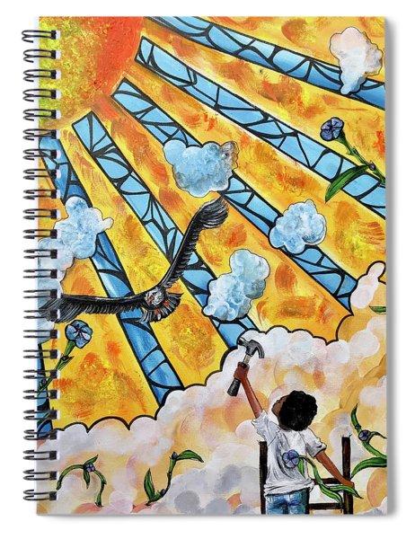Shattered Skies Spiral Notebook