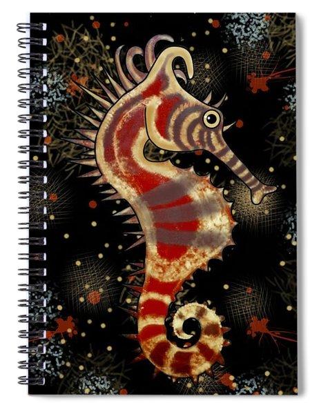 Shehorse Gold Burgundy Black Spiral Notebook