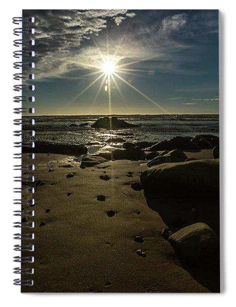 Shell Beach Sunburst Spiral Notebook