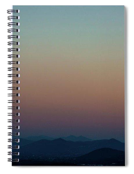 Sherbert Sunset Over The Blue Ridge Mountains Spiral Notebook