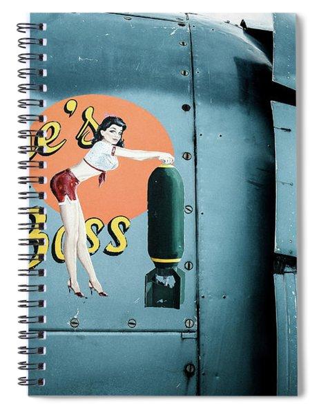 She's The Boss, World War 2 Navy Avenger Torpedo Bomber Spiral Notebook