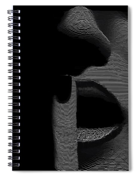 Spiral Notebook featuring the digital art Shhh by ISAW Company