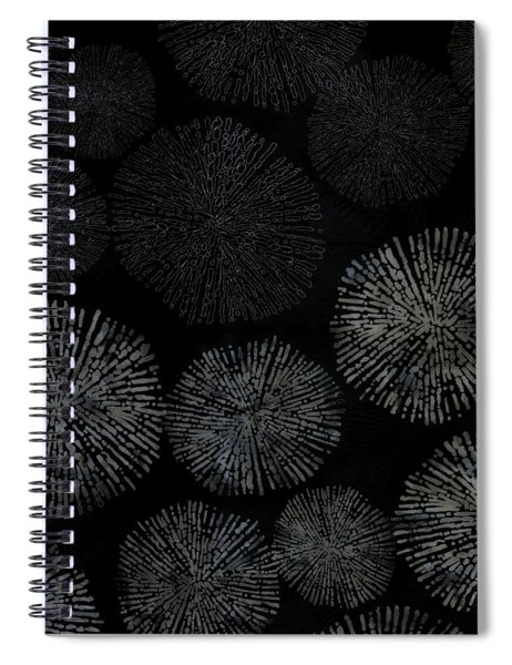 Shibori Sea Urchin Burst Pattern Spiral Notebook