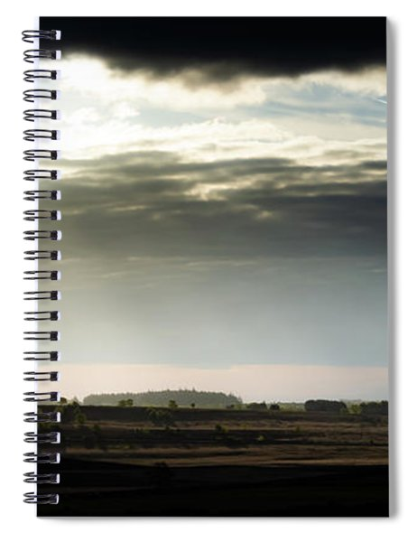 Spiral Notebook featuring the photograph Shining Through At Baslow Edge by Scott Lyons