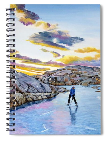 Shinny At Rock Pool Pond Spiral Notebook