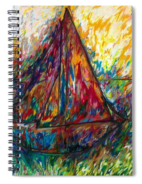 Ship In Color Spiral Notebook