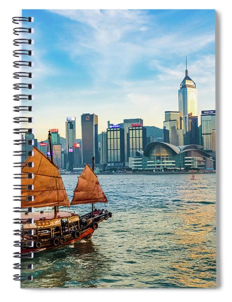 Ship In Hong Kong Spiral Notebook