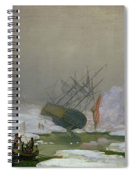 Ship In The Polar Sea    Th December       Spiral Notebook