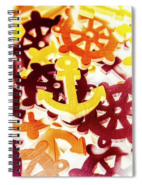 Ship Shapes And Ocean Ornaments Spiral Notebook