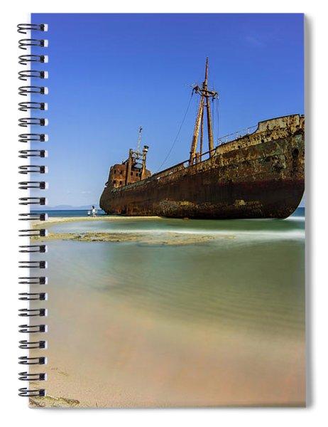 Shipwreck Dimitros Near Gythio, Greece Spiral Notebook