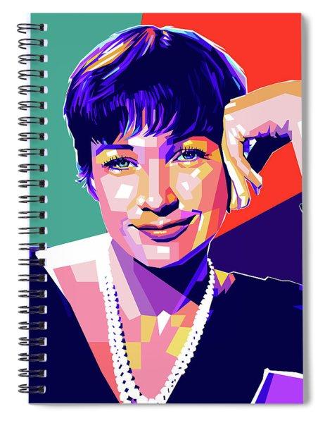 Shirley Maclaine Pop Art Spiral Notebook