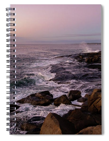 Spiral Notebook featuring the photograph Shoals Of Cape Neddick by Rod Best