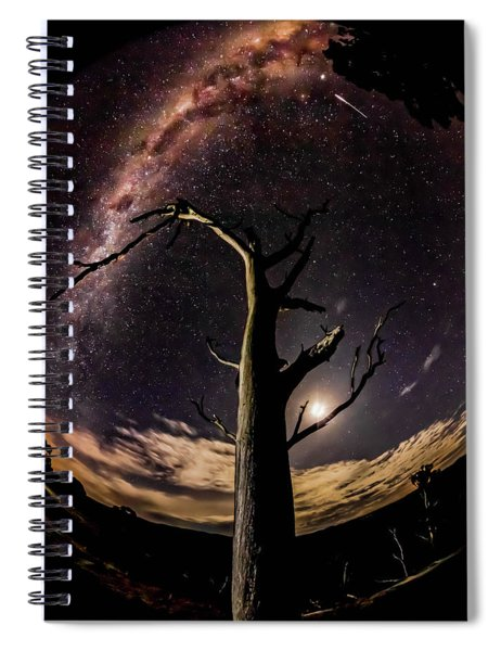 Shooting Stars And Milky Way Spiral Notebook