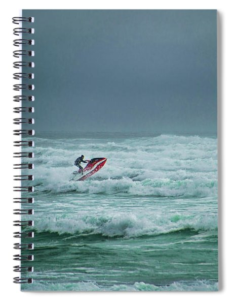 Shooting The Surf Spiral Notebook