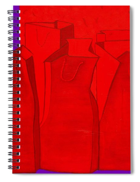 Shopping In Red Spiral Notebook