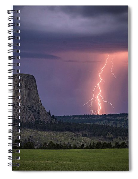 Showers And Lightning Spiral Notebook