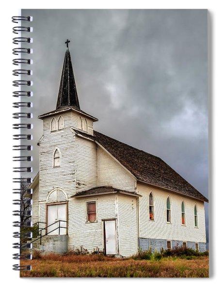 Shuttered Church In Cartwright North Dakota Spiral Notebook