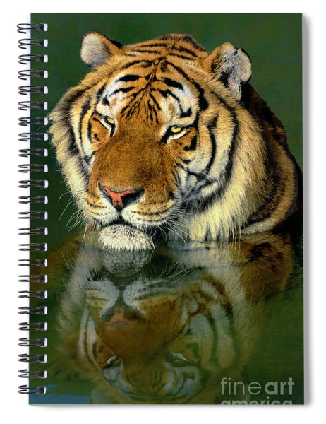 Siberian Tiger Reflection Wildlife Rescue Spiral Notebook