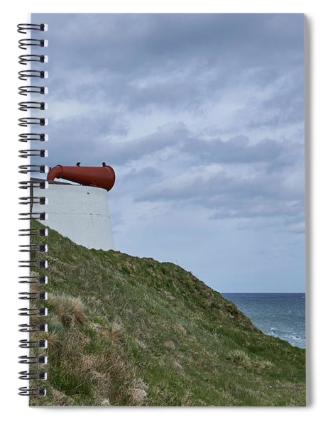 Side View Of The Foghorn At Torrey Point In Aberdeenshire. Spiral Notebook