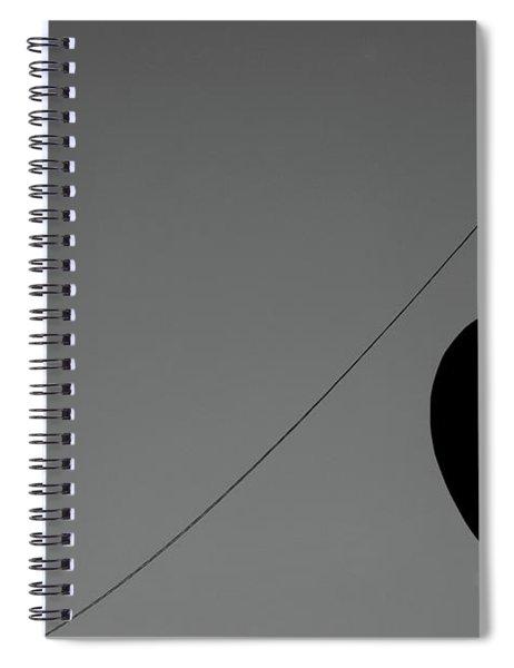 Signboard Bird Vs Street Lamp Spiral Notebook